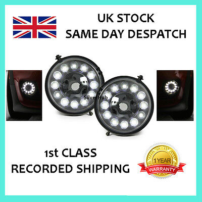 For Mini R55 Cooper One 2007-2014 Led Drl Daytime Running Lights Fog Lamps Kit