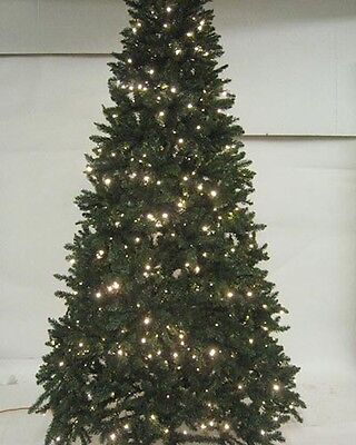 Pre-Lit Green 240CM (8FT) Christmas Tree With 700 Warm White Leds