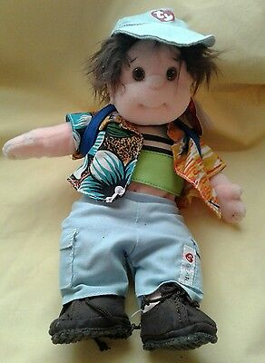 New TUMBLES TY BEANIE KID in Back to School Outfit- Jeans, Backpack, Hat, Shirts