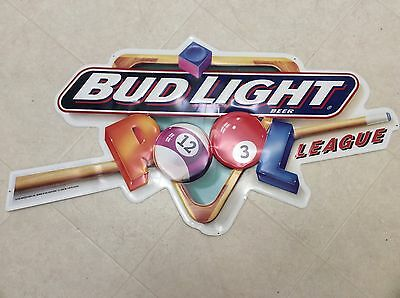Bud Light pool league iconic metal tacker, man cave, collectable