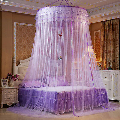 Fashion Round mosquito nets Luxury Princess Pastoral Lace Bed Canopy Net Crib