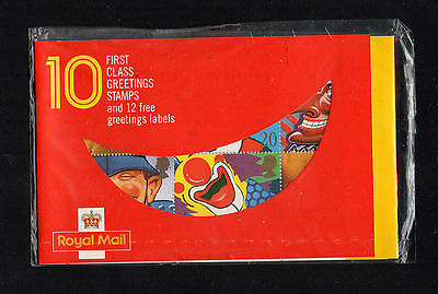 1990 - BARECODE BOOKLET KX1 - 10 X 1st CLASS GREETINGS STAMPS - UNOPENED-SEALED