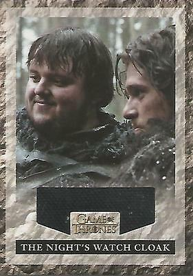 "Game of Thrones Season 2: RNW1 ""Night's Watch Cloak"" Relic Card #594/625"