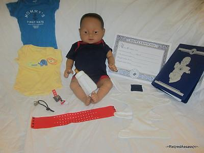 NICE RealCare Baby Think It Over Doll G6 Gen 6 Mexican Hispanic Boy Male Extras