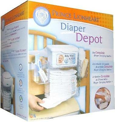 Prince Lionheart Diaper Depot Baby Wipes/Diaper Storage for Changing Station