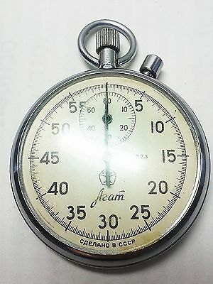 Soviet Russian USSR  Stopwatch Agat mechanical Two-Button