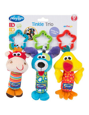 NEW Playgro Tinkle Trio Assorted