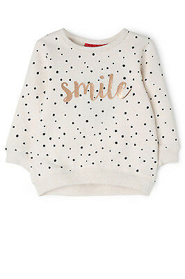 NEW Sprout Girls Crew Neck Sweat Top Oatl Marle