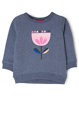 NEW Sprout Girls Crew Neck Sweat Top Blue Marle