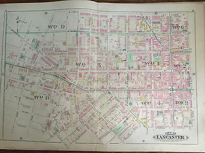 1899 Lancaster City Pa Franklin And Marshall College Plats 11-14 Atlas Map