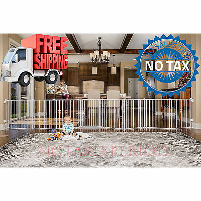 NO TAX! Baby Pet Dog Extra Wide Safety Metal Playpen Indoor Outdoor Child Fence