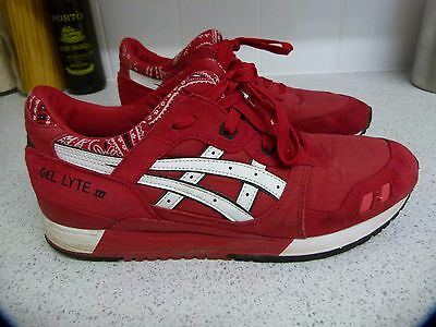 Asics Gel Lyte 3 Iii Red Suede Trainers Mens Uk 10 Eur 45.5 So So Comfy