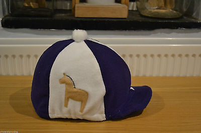 Norwegian Fjord Horse Fleece Skull Cap Xc Colours Hat Helmet Cover With Pompom