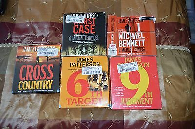 Huge lot of 36 audio books on CD, thrillers/mysteries, Patterson, Cornwall etc.
