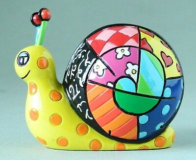 Romero Britto Mini Figur - Schnecke - Pop Art Kunst Aus Miami