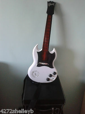 Power Tour Gibson Guitar from Hasbro Tiger Electronics White