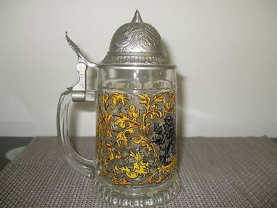 Vintage Western Germany Beer Stein with Lid