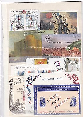FRENCH - REVOLUTION 5 Blocs + Carnet + Timbres **