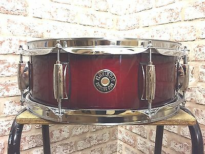 "Gretsch Catalina 14"" x 5"" Gloss Crimson Burst Mahogany Snare Drum"