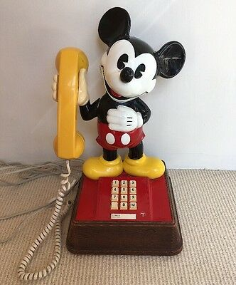 Classic Mickey Mouse Telephone - Working Order