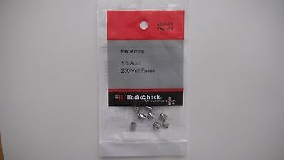 RadioShack Fast Acting Fuse (Pack of 4) 1.6A @ 250V 5x20mm GMA Type 270-1051