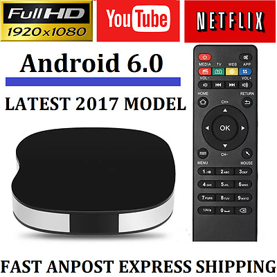 Android 6.0 Smart Tv Box Quad Core 4K Ultra Hd Media Player Wifi Kodi 16.1