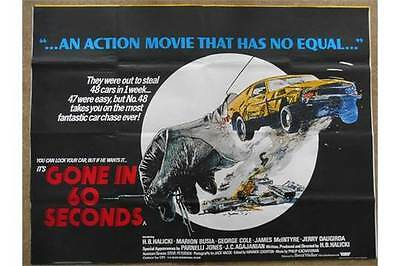 Original 1974 Gone in 60 seconds Film Poster