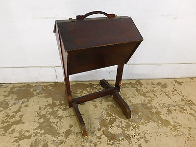 Antique Vintage Grandpa Made Cantilever Solid Wood Sewing Fabric Stand