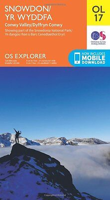 OS Explorer OL17 Snowdon & Conwy Valley OS Explorer Map Map