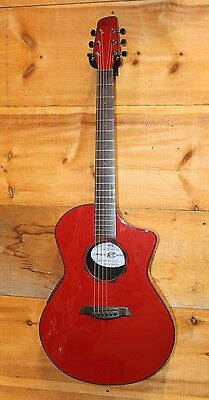 Composite Acoustics The OX Acoustic Electric Guitar Red w/ SKB Soft Case NEW