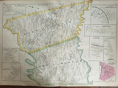 1899 Lancaster County Pa Lampeter Pequea Township To Leacock Atlas Map