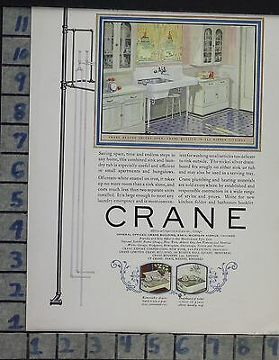 1925 Home Decor Kitchen Sink Crane Plumbing Design Cleaning Vintage Ad Cp48