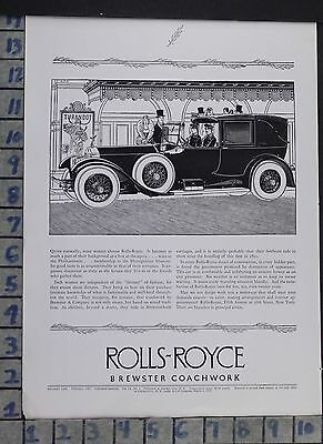 1927 Auto Rolls Royce Brewster Coachwork Motor Car Model Vintage Ad Do71