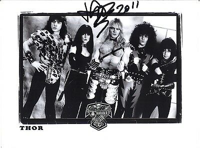 THOR 8x10 Photo, JON MIKL Only the Strong Let the Blood Run Red Autograph SIGNED