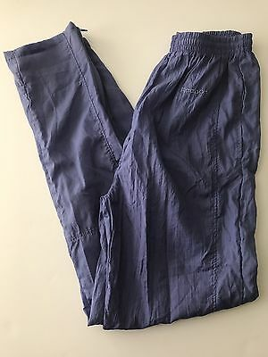 Women's Vintage REEBOK Nylon Track Wind Athletic Pants LAVENDER Size Medium!