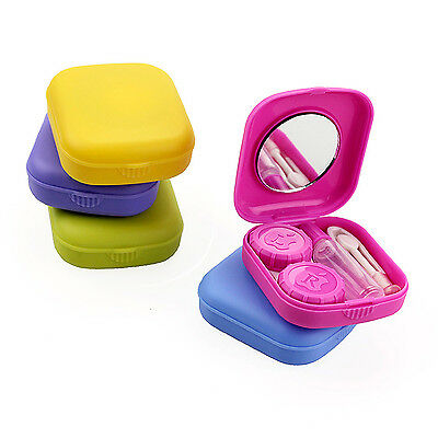 UP Travel Outdoor Mini Storage Contact Lens Holder Case Mirror Box Container