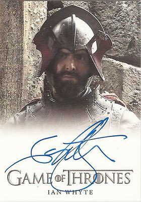 "Game of Thrones Season 3 - Ian Whyte ""Gregor Clegane"" Autograph Card"