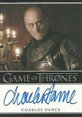 "Game of Thrones Season 1 - Charles Dance ""Tywin Lannister"" Autograph Card"