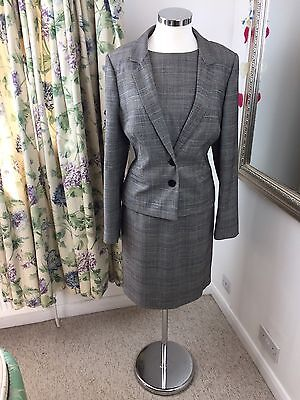 Hobbs Size 16 Checked Smart Dress Suit Work Business Office