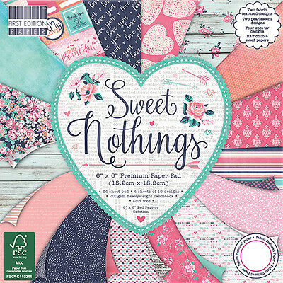 """SWEET NOTHINGS - First Edition Papers - 6""""x6"""" Taster Pack of Papers"""