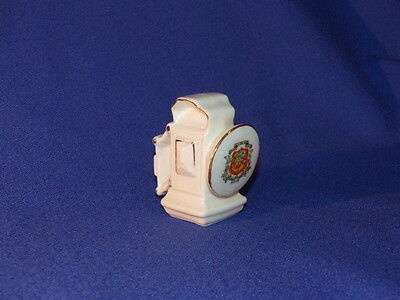 SHELLEY CRESTED CHINA - RIPON CREST - BICYCLE LAMP - BICYCLE OIL  LAMP - unusual