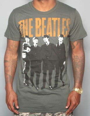 The Beatles Vintage Charcoal Rock & Roll John, Paul, Ringo, George T-Shirt