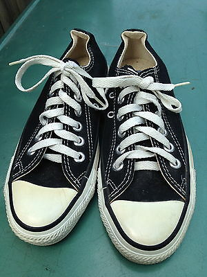 Vintage Made In USA CONVERSE All Star CHUCK TAYLOR Shoes, Black, Men's 4.5 Low