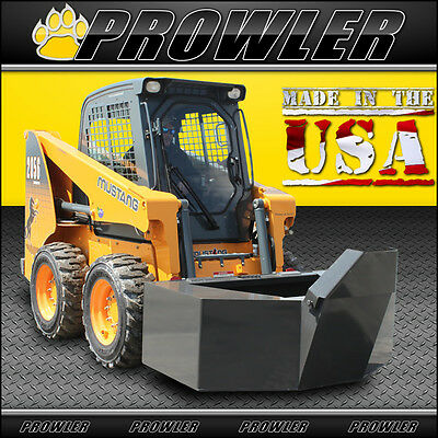 Prowler 3/4 Yard Cement and Concrete Bucket with Spout for Skid Steer Loaders