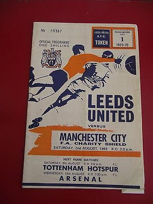 Leeds V Manchester City Fa Charity Shield 1969 - Ex Condition