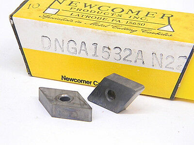 New 10Pcs. Newcomer Dnga 1532A  Grade: N22 Carbide Inserts