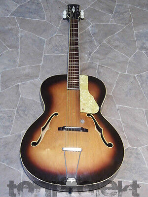 vintage GERMAN VOSS GIMA  acoustic archtop Jazz GUITAR Germany 1960s