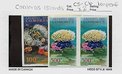 Lot of 4 Comoros MNH Mint Imperf Stamps Scott # C5 & C6 #98727 R