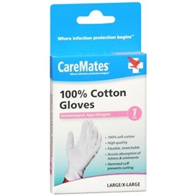 Caremates Cotton Gloves - LG/XL, 6 Pair