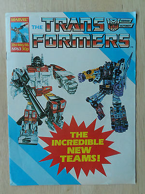 TRANSFORMERS # 63 - (1st APP. of BRUTICUS) ~ MARVEL UK ~ 31st MAY 1986_NEW MOVIE